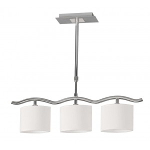 Lampara colgante 3 luces Oval blanco